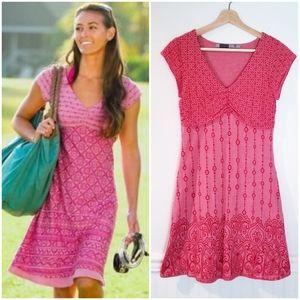 Athleta Dhara Burnout Dress Hot Tamale Size SP